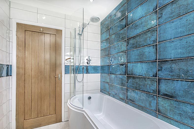 The main bathroom at Clovehayes holiday cottage in central Devon near Dartmoor.