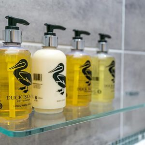 Duck Island Toiletries at Clovehayes holiday cottage in Devon